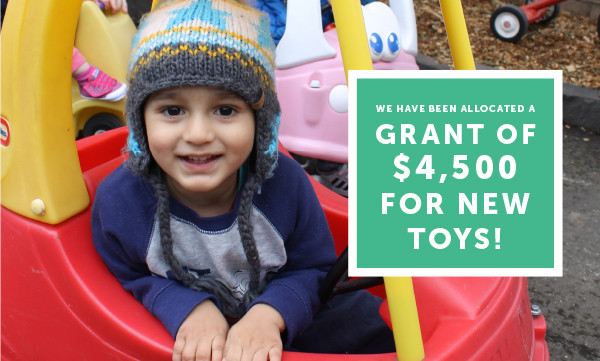 New grant for 4,500 toys