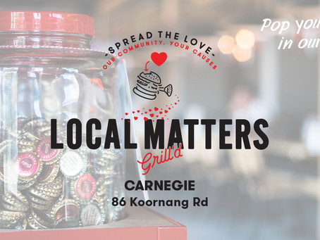 Pop Your token in our Jar at Grill'd this June