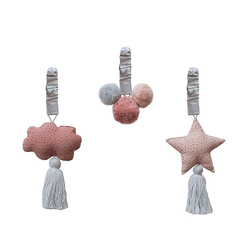 Baby Gym Ornaments - Grey/Blush