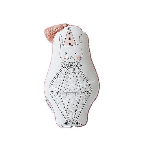Bunny Clown Pillow