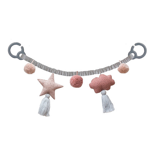 Pram Chain - Grey/Blush
