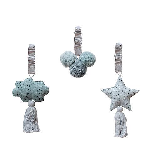 Baby Gym Ornaments - Grey/Ocean