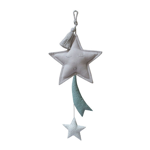 Shooting Star Mobile - Grey/Ocean