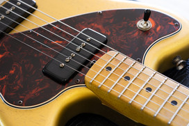 Stinger in Aztec Gold, NOS (Aged), 4ply Tortoiseshell Pickguard, Maple Neck, Matching Color Headstock