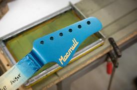 Stinger Ice Blue Matching Headstock