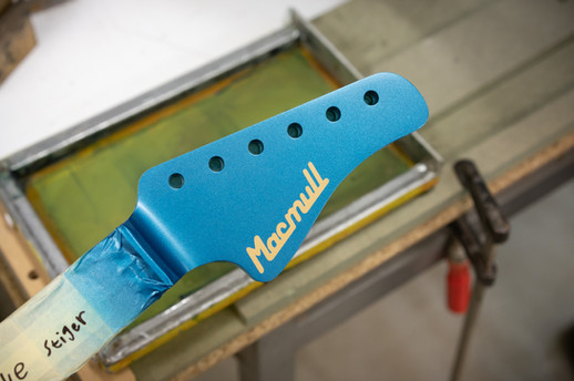 Stinger Ice Blue Matching Headstock