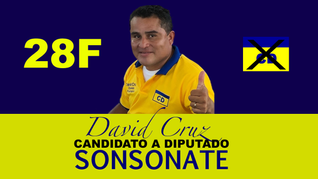 Candidato a Diputado por Sonsonate David Cruz expresa un saludo de fin de año.