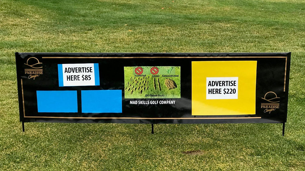 Driving Range Advertising Dividers