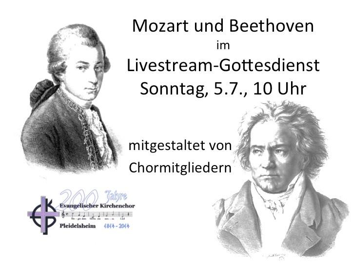 Mozart und Beethoven im Livestream-Gottesdienst