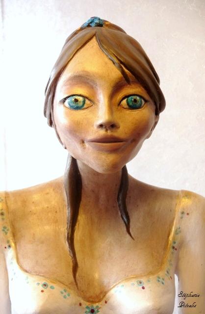 femme enceinte peinte