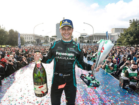 MITCH EVANS CLAIMS FIRST VICTORY FOR PANASONIC JAGUAR RACING IN FORMUALE E AT ROME EPRIX
