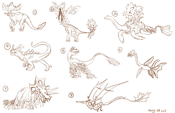 Dinosaur Creature Thumbnails
