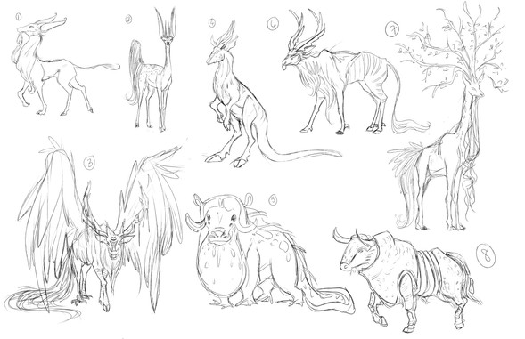 Hooved Creatures Thumbnails