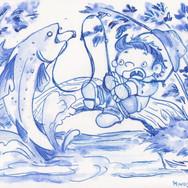 Blue Series - Fisherman