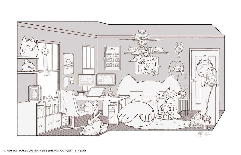 Pokemon Trainer Bedroom Concept