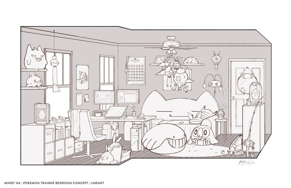 Pokemon Trainer Bedroom Concept