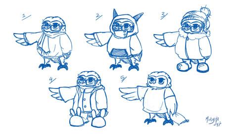 Owl Character Thumbs