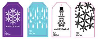 Viacom Holiday Lobby Gift Tags