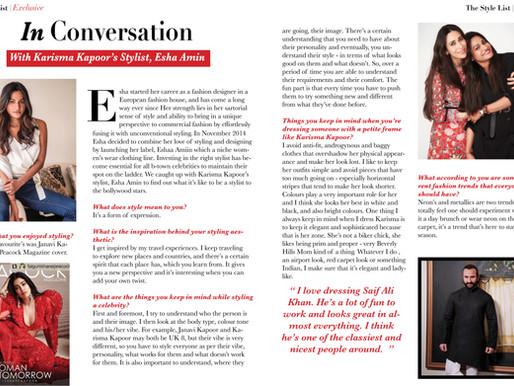 In Conversation With Karisma Kapoor's Stylist -  Esha Amin!