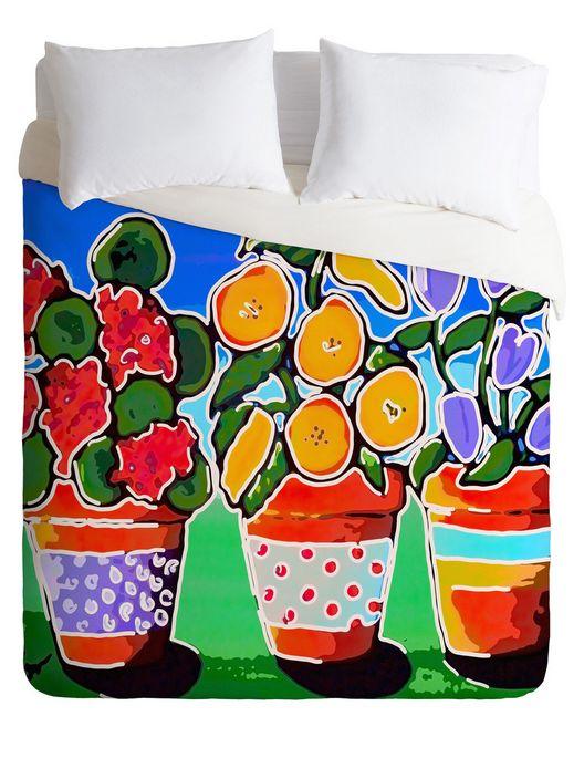 DENY Designs Flower Pots Bedding