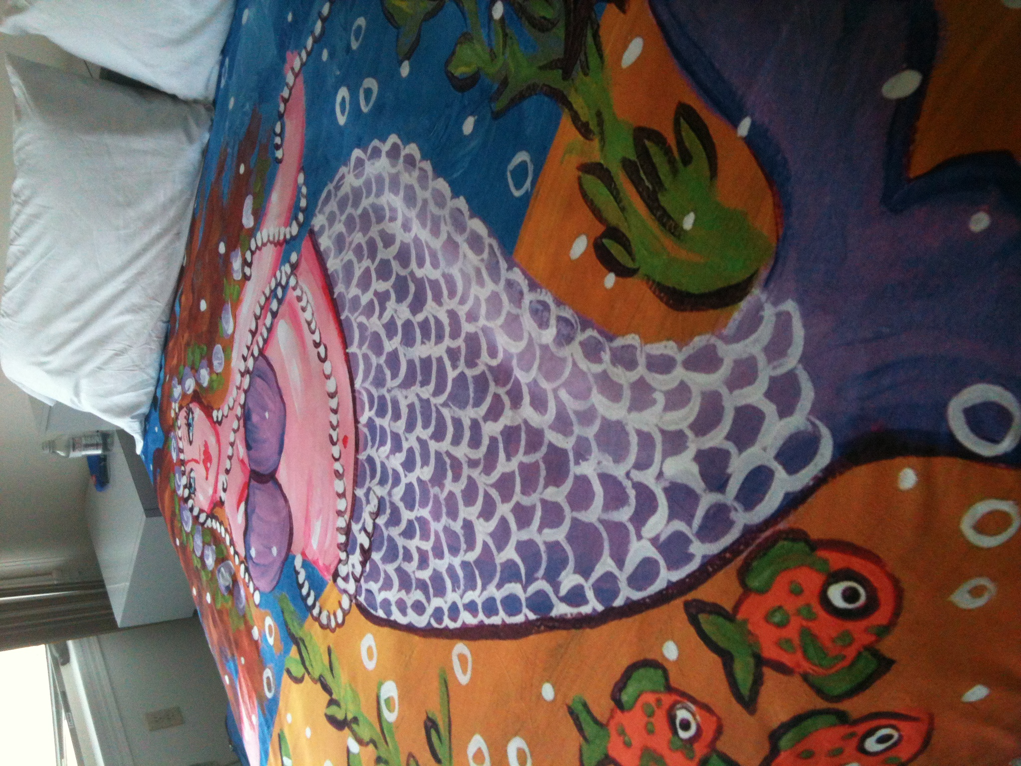 Purple Mermaid Duvet Cover