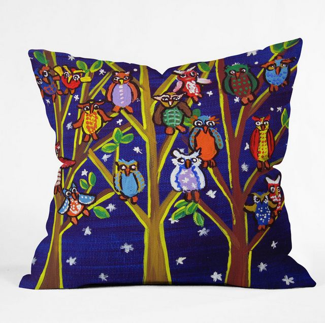 DENY Designs Owl Party Pillow