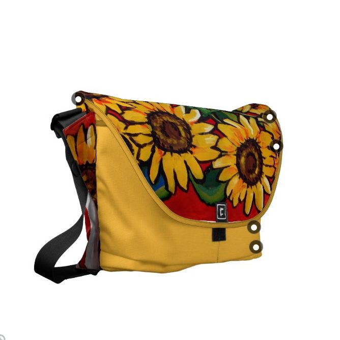 Sunflowers Messenger Bag