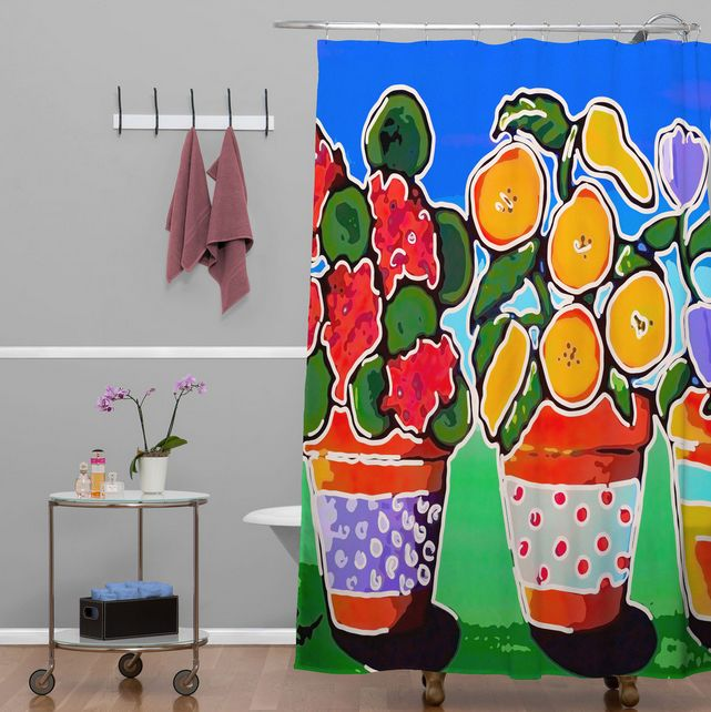 DENY Designs Flower Pots Shower
