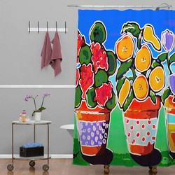 DENY Designs Flower Pots Shower