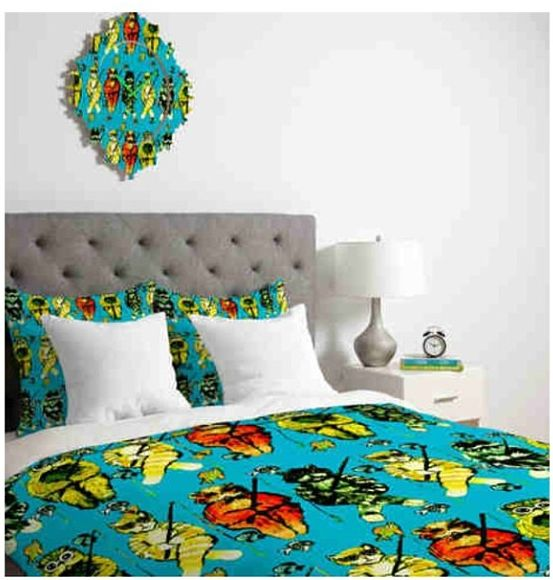Deny Designs Fishing Cats Bedding