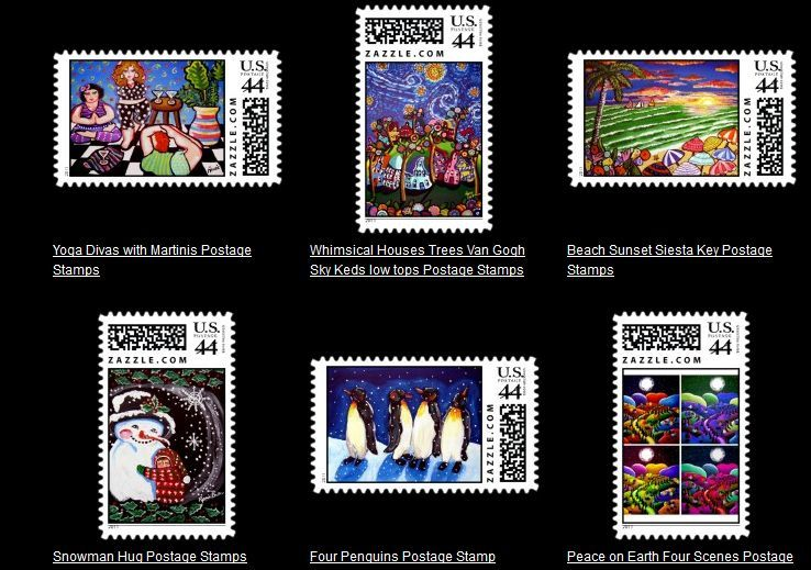 Whimsical Postage Stamps