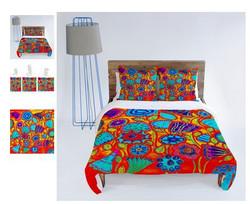 Fun Funky Colorful Flowers Bedding