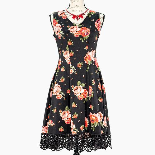 0714 DONNA RICCO FLORAL DRESS