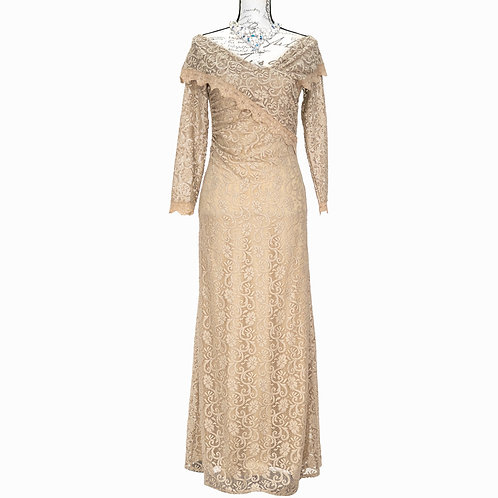 1504 POSH COUTURE LONG LACE DRESS