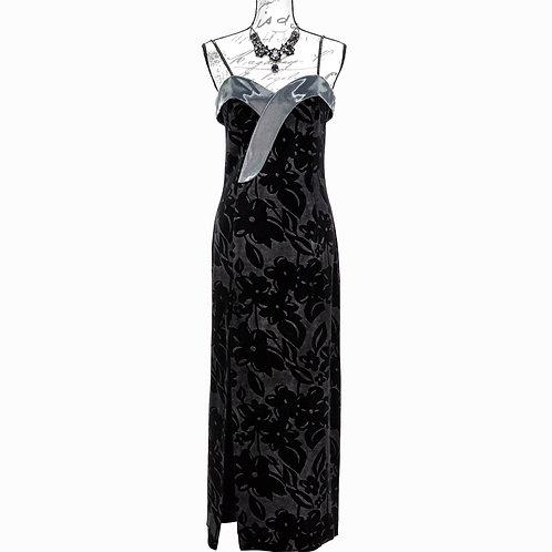 1505 BLACK & SILVER DRESS