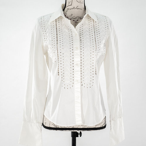 0754 WHITE LONG SLEEVED TOP