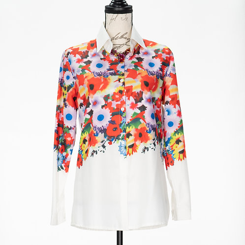 0750 WHITE FLORAL TOP
