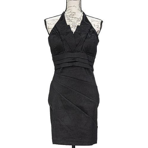 0963 SNAP BLACK DRESS