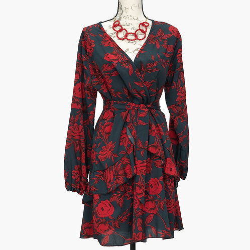 0612 GREY & RED DRESS