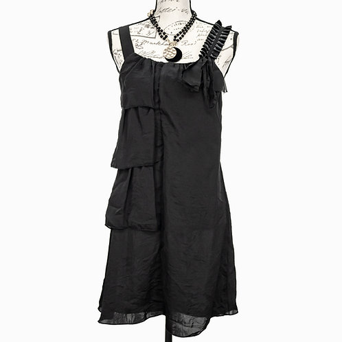 0955 JULIE'S CLOSET BLACK DRESS