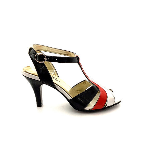 1403 BEACON REFLECTIONS RED WHITE BLACK HEELS