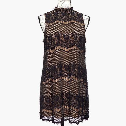 0622 BLACK & NUDE DRESS