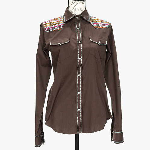 0940 SCULLY SMALL BROWN SHIRT