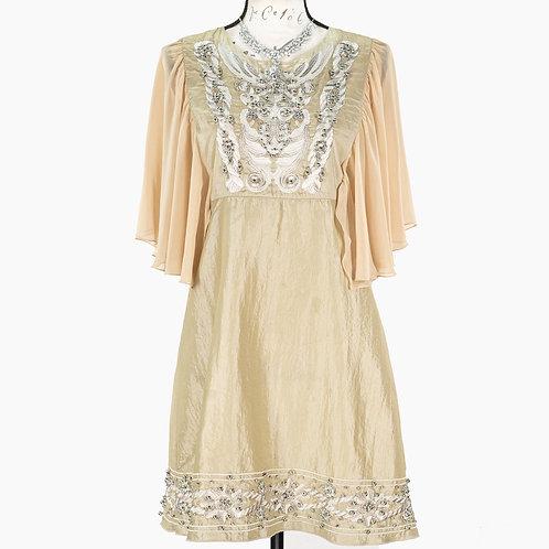 0730 BEIGE DRESS