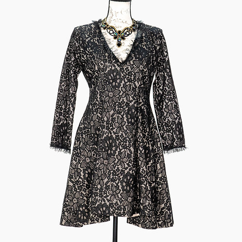 0726 BLACK LACE DRESS