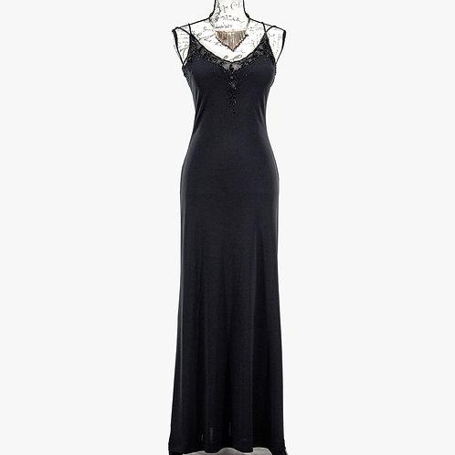0884 BLACK LONG DRESS