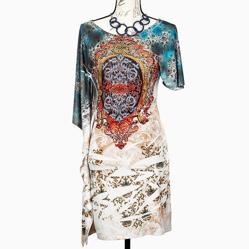 0617 MULTICOLOR PRINT DRESS