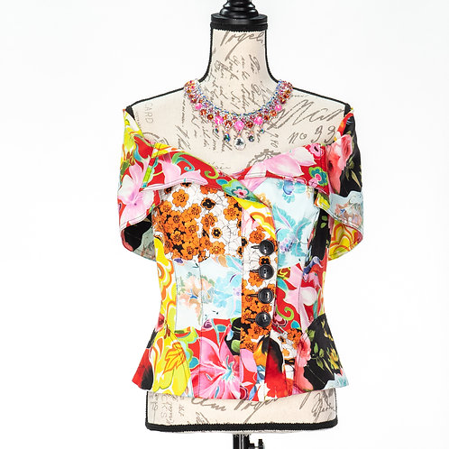 0686 WHITE FLORAL