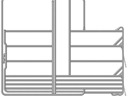 Sicherheits-Weidepanel mit Tor und Fressgitter