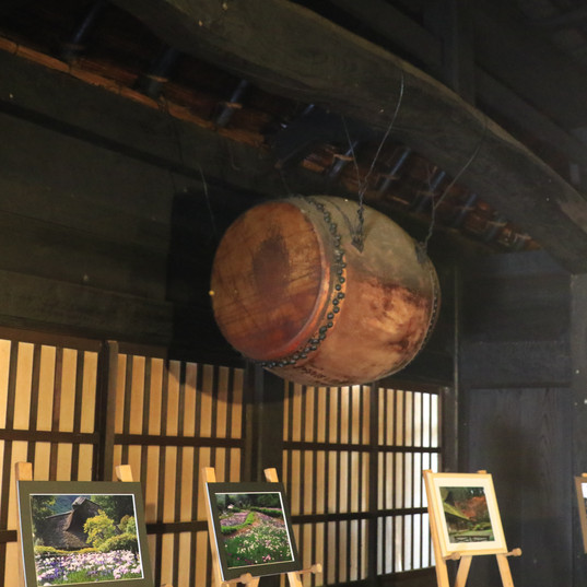 big Japanese drum in Senko-no-ie